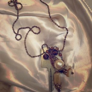 """15"""" Chain Necklace with Key, Stone Fetishes"""